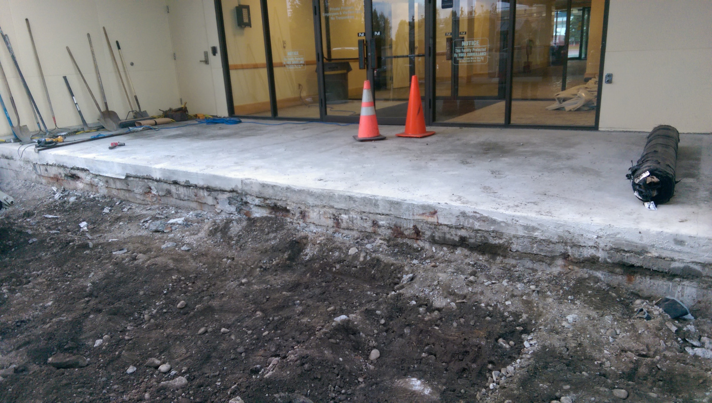 Waterproofing concrete slab repair 1